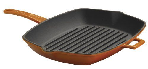 Lava Siganture Enameled Castiron 10 X 12 Inch Rectangular Grill Pan Orange Spice Click Image To Review More Details Grilling Orange Spice Cookware Display