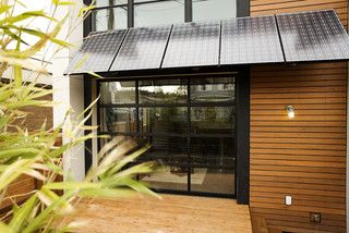 Solar Panels Used As An Awning A Modern Exterior Solar Roof Modern Exterior Solar Panels
