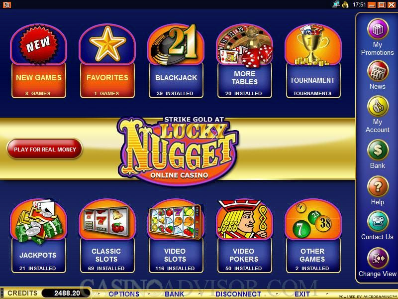 Lucky Nugget Online Casino Mobile