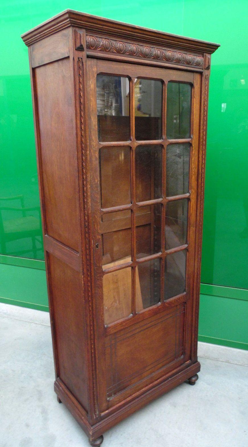 Piccola vetrina libreria in faggio ad un 39 anta liberty anni for Mobili anni 20