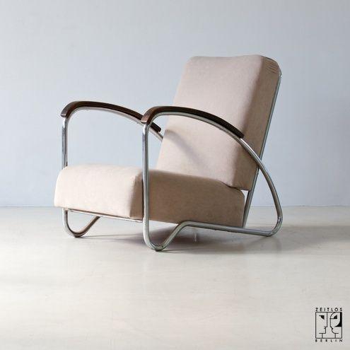 Avantgarde tubular steel chair by Hynek Gottwald