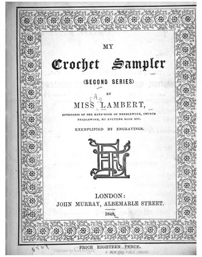 My Crochet Sampler antique crochet | Vintage Crochet Sampler Books ...