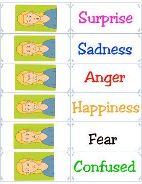 Free Printable Flashcards - Emotion Flash Cards | For the kid ...