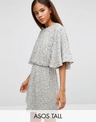 Lentejuelas Fashion Kimono Tall Minivestido Asos Estilo De q01tTWxwOa