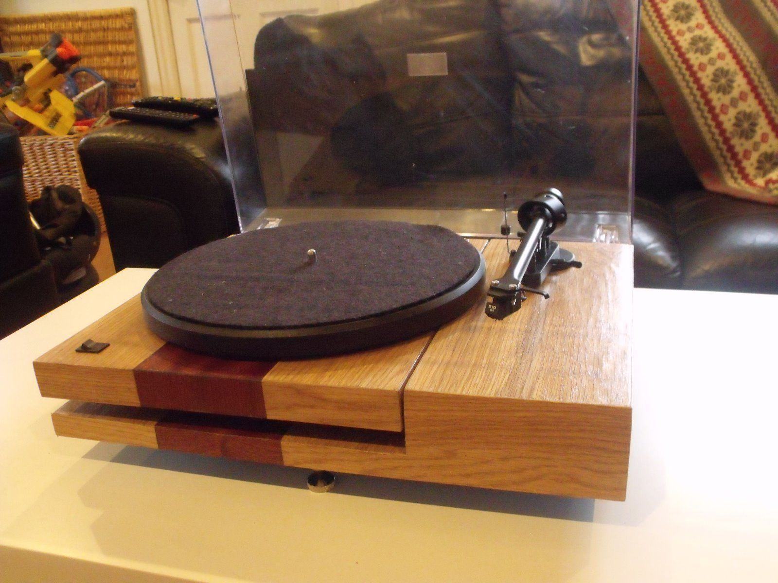 Project Debut Iii With Custom Plinth 237 00 Picclick Uk Diy Turntable Turn Table Vinyl Plinths