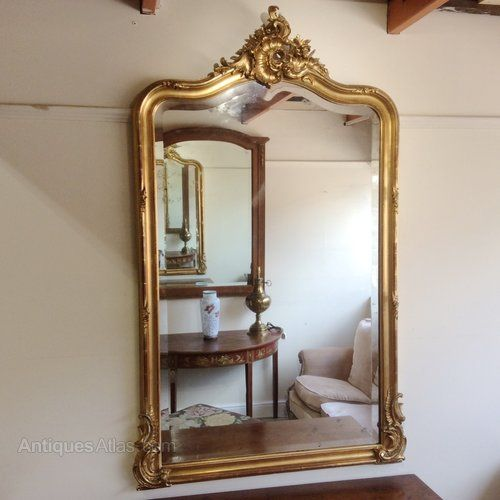 Antiques Atlas - French Gilt Overmantle Mirror