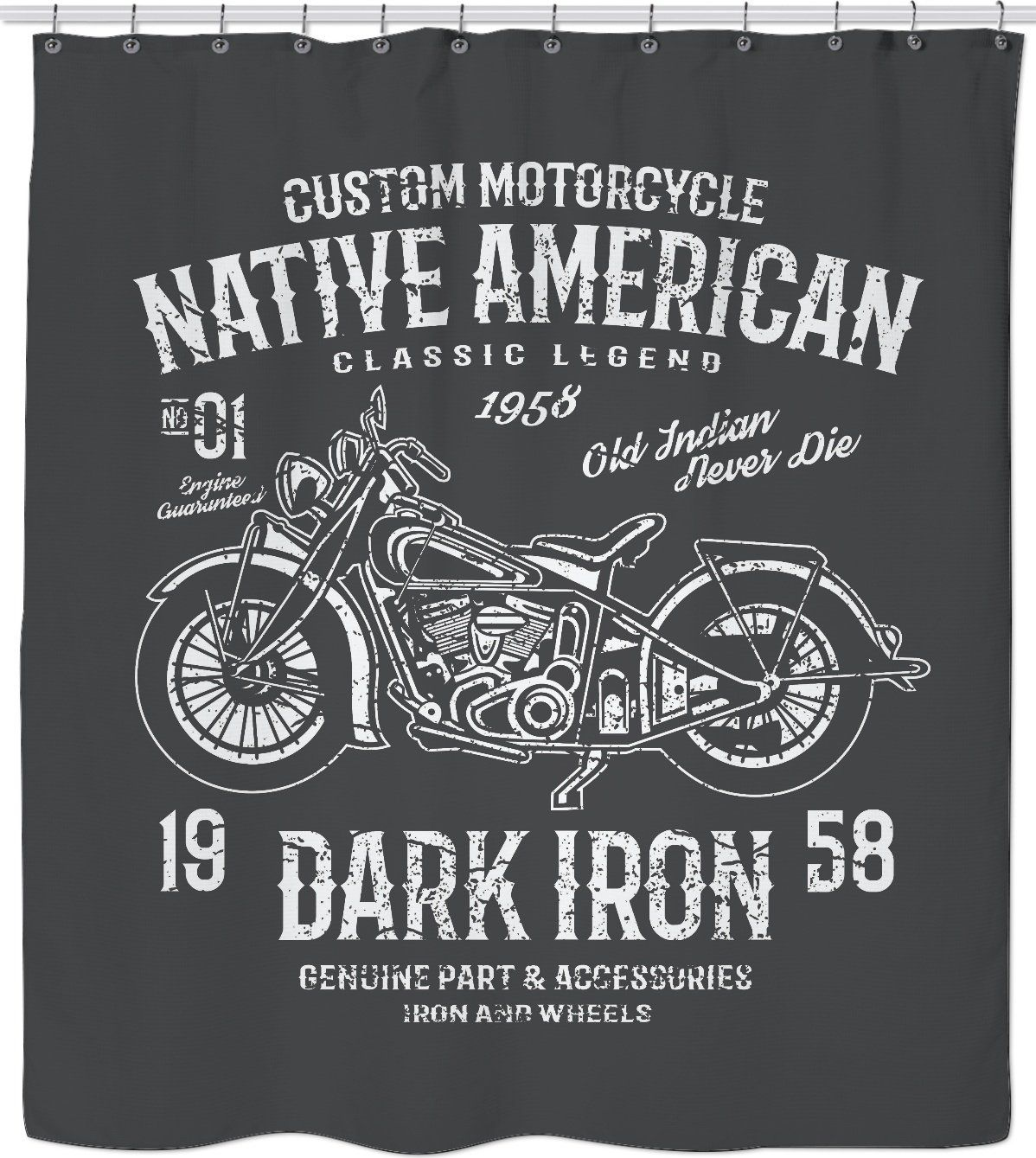 Native American Motorcycle Custom Shower Curtain Custom Harleys American Motorcycles Custom Shower