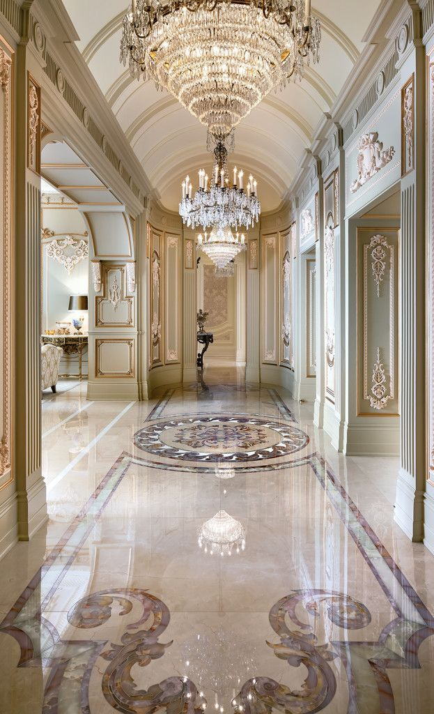 Four Seasons Hallway Luxury Interior Design Mansion