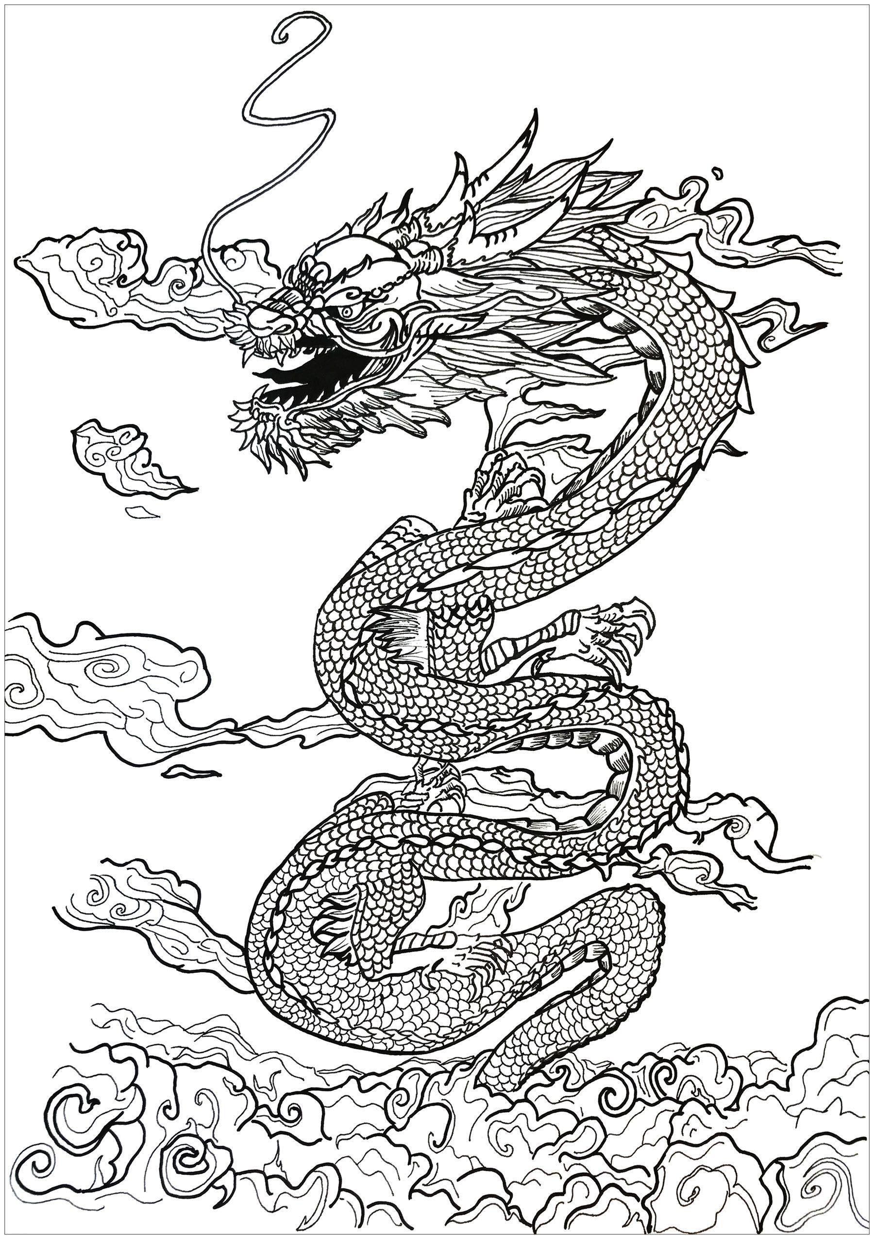 An incredible dragon slipping through