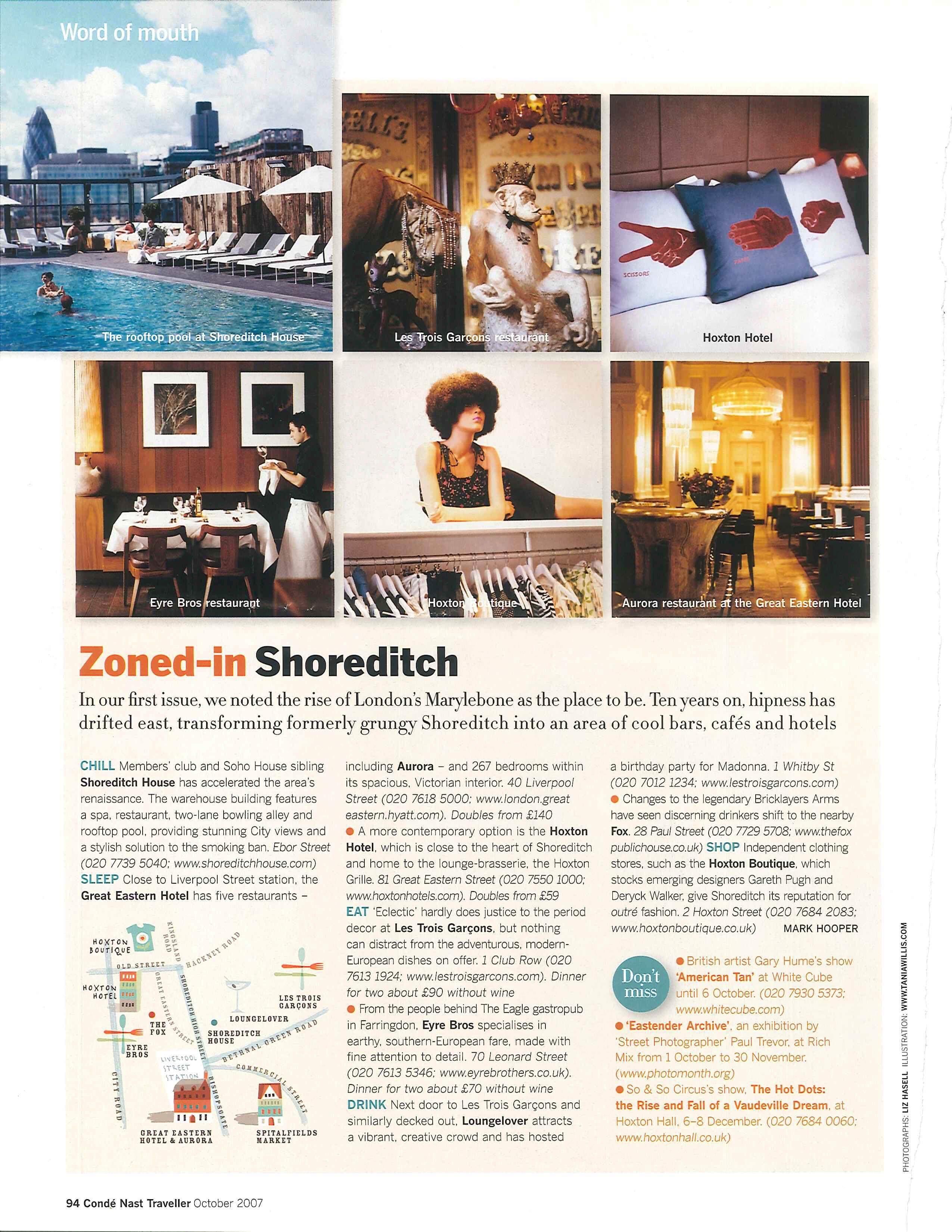 Soho House Shoreditch: Guide To Shoreditch, UK: Hoxton Hotel, Shoreditch House, Etc