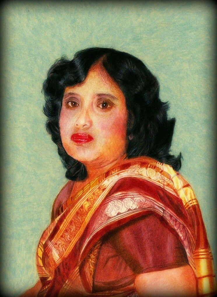 #Prismacolor #drawing.  #Indian #Lady #Sari #art #realism