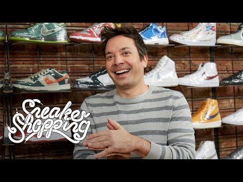 Jimmy Fallon Goes Sneaker Shopping With