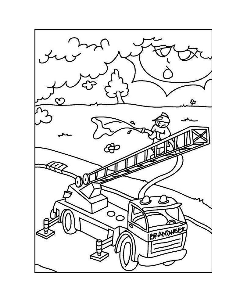 Coloriage Playmobil : camion des pompiers | A partir de la ...
