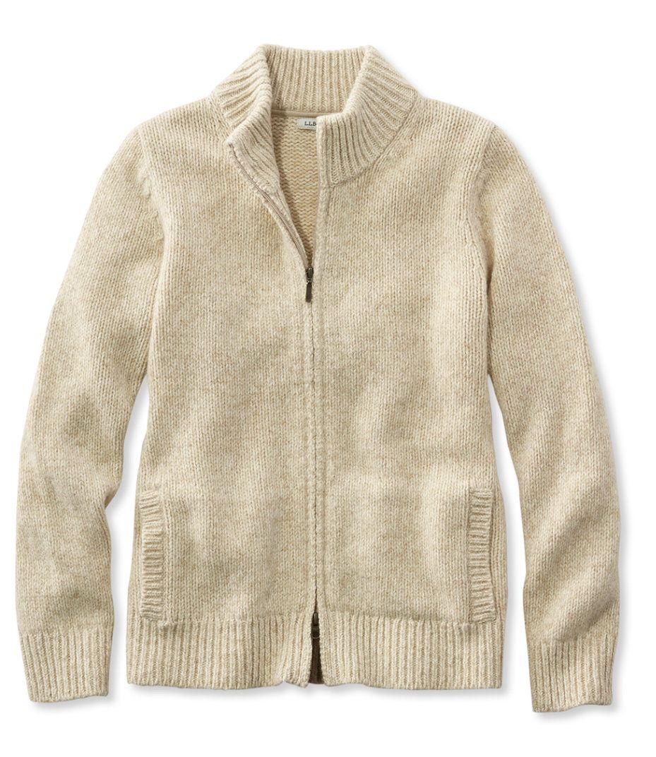 Bean's Classic Ragg Wool Sweater, Zip Cardigan   Want...   Pinterest