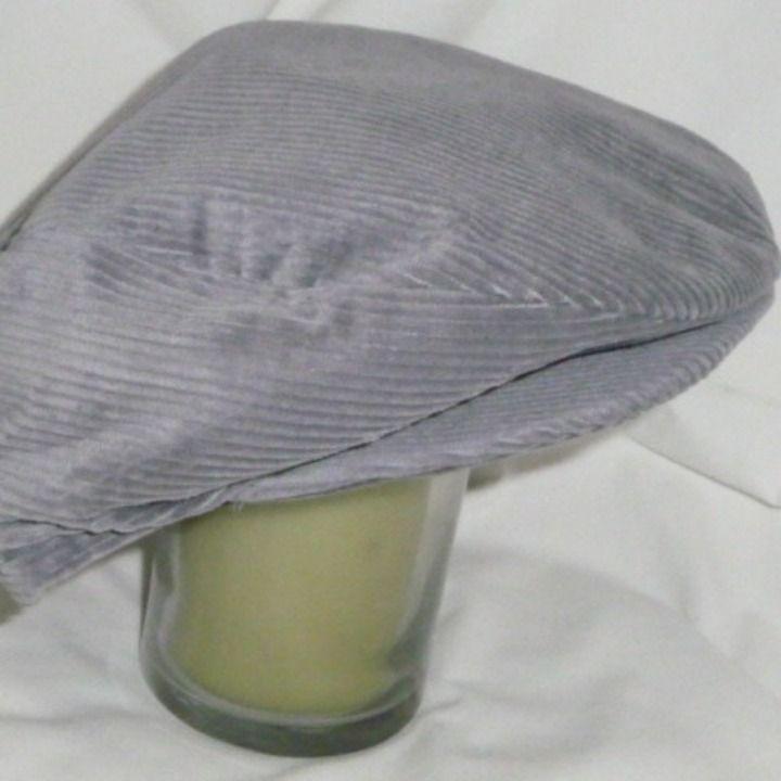 Cool item  Mens Gray Corduroy Flat Cap snap brim  a2b93b8a3f1