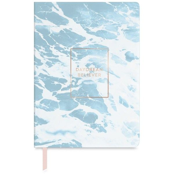Fringe Daydream Believer Journal ($13) ❤ liked on Polyvore featuring home, home decor, stationery and blue