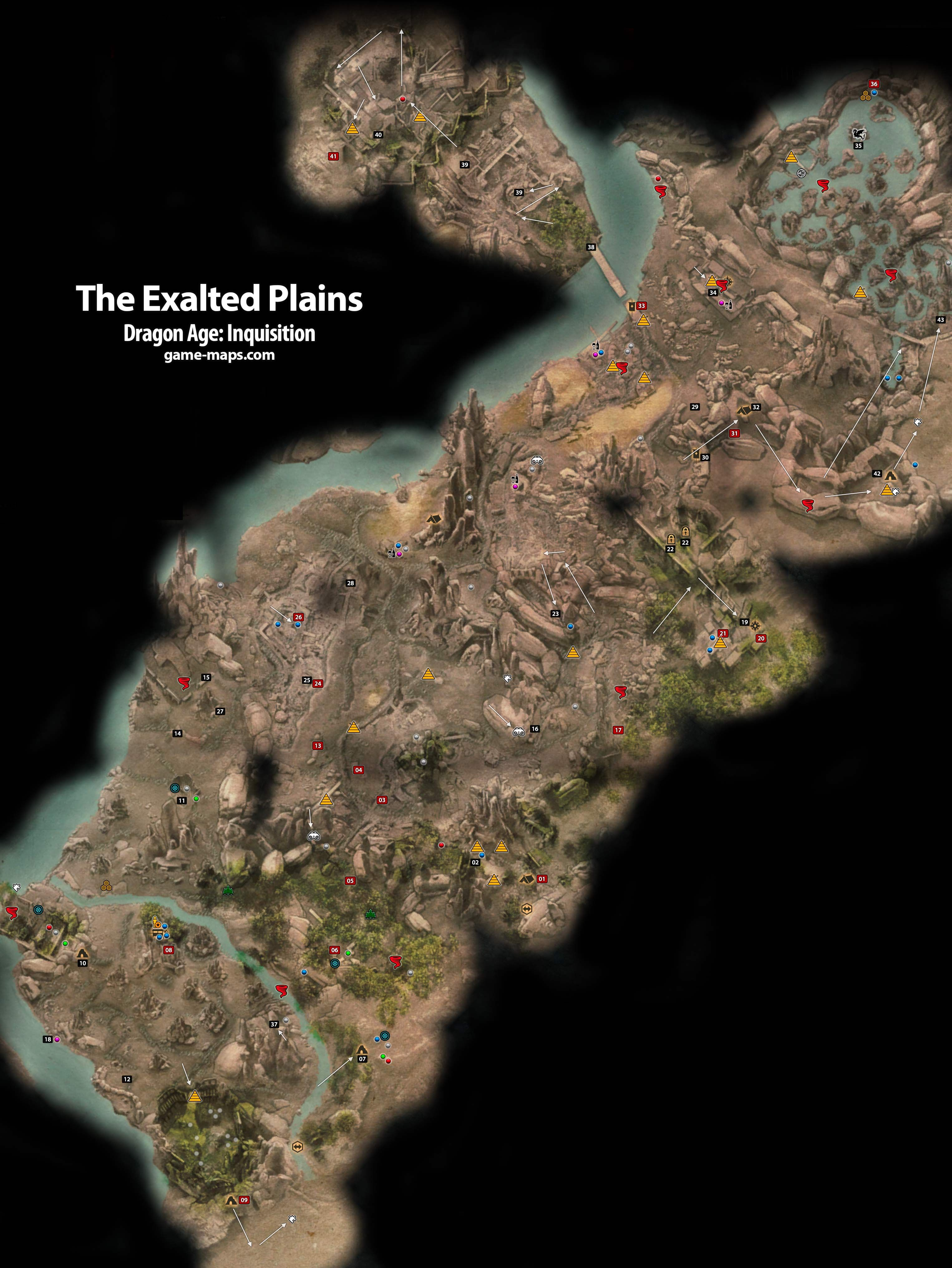 Map of the exalted plains dragon age inquisition game map of the exalted plains dragon age inquisition freerunsca Image collections
