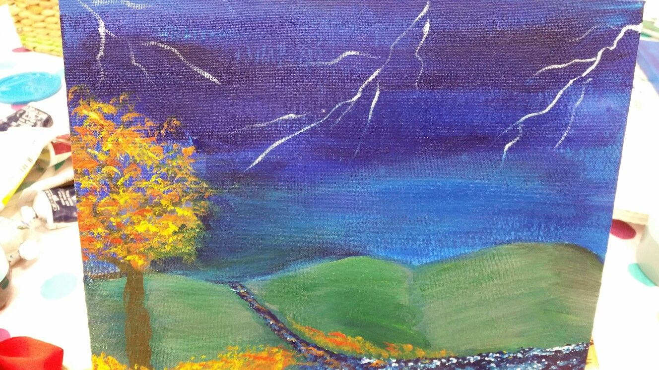 Free Painting Class at Michaels #Michaels #freepaintingclass #somuchfun #acrylics #grumbacher #grumbacherpaints