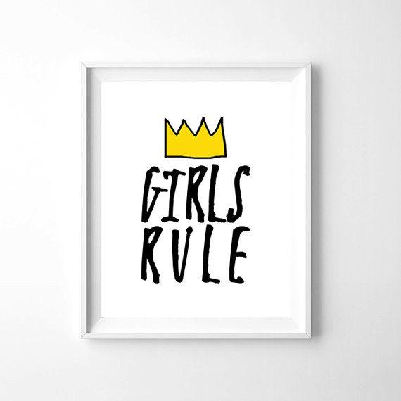 Girls Rule Printable