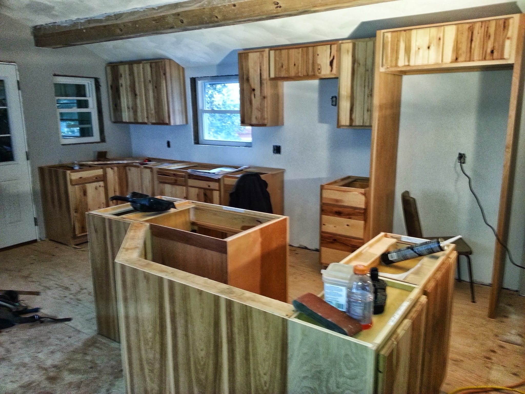 100 year old kitchen remodel in evansville - connell construction