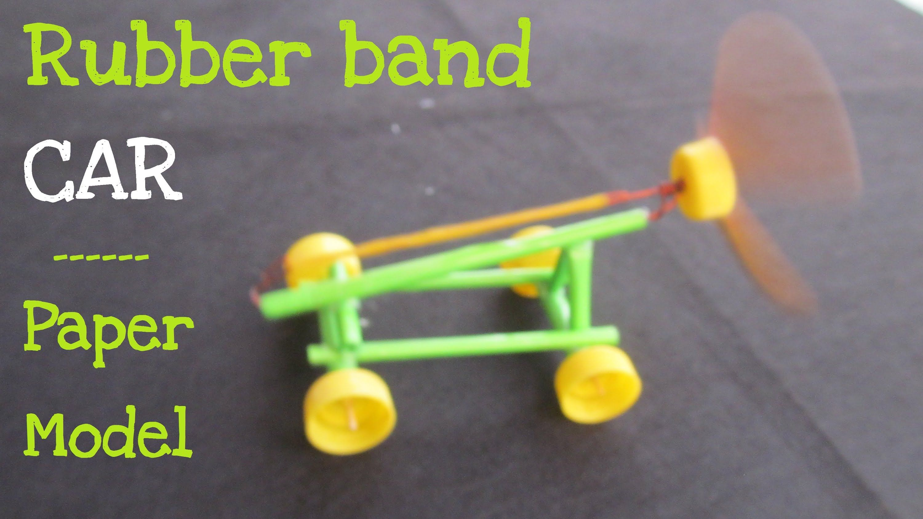 How To Make A Paper Rubber Band Powered Car