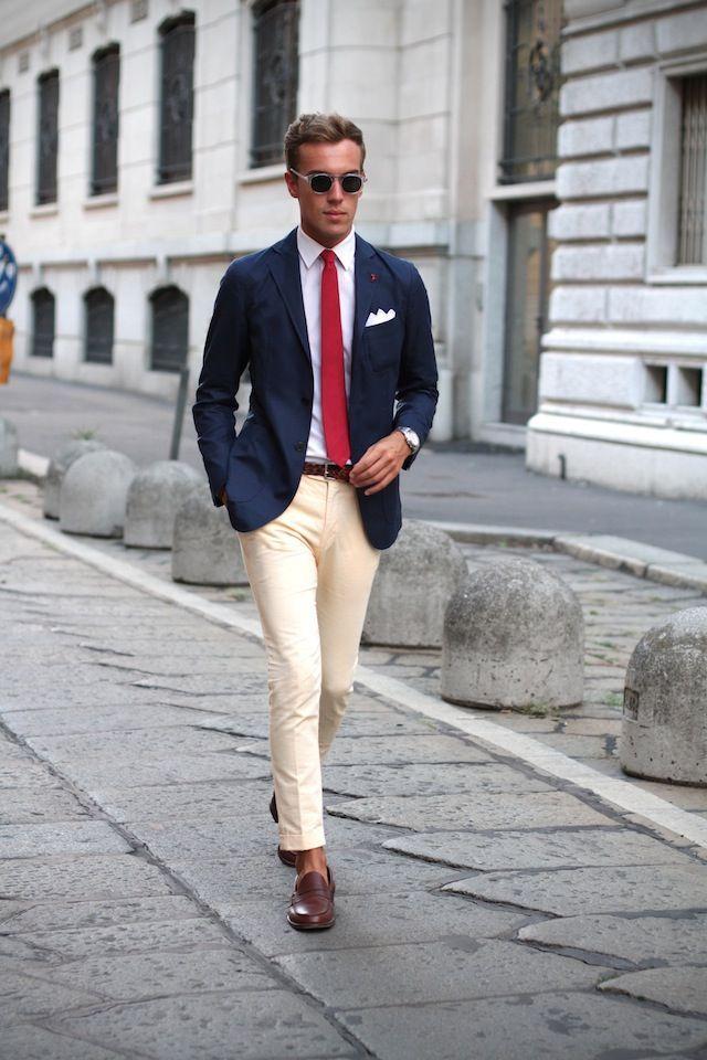 Image result for khaki pants blazer men