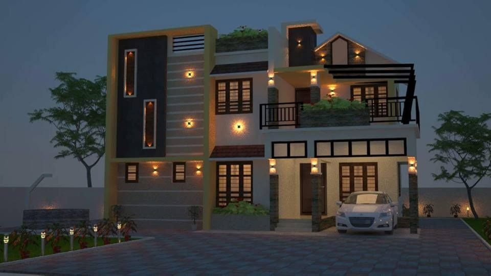 Low Cost House Plans Kerala Model Home With Plan Photos Khp Kerala House Design Model House Plan Small House Design Kerala
