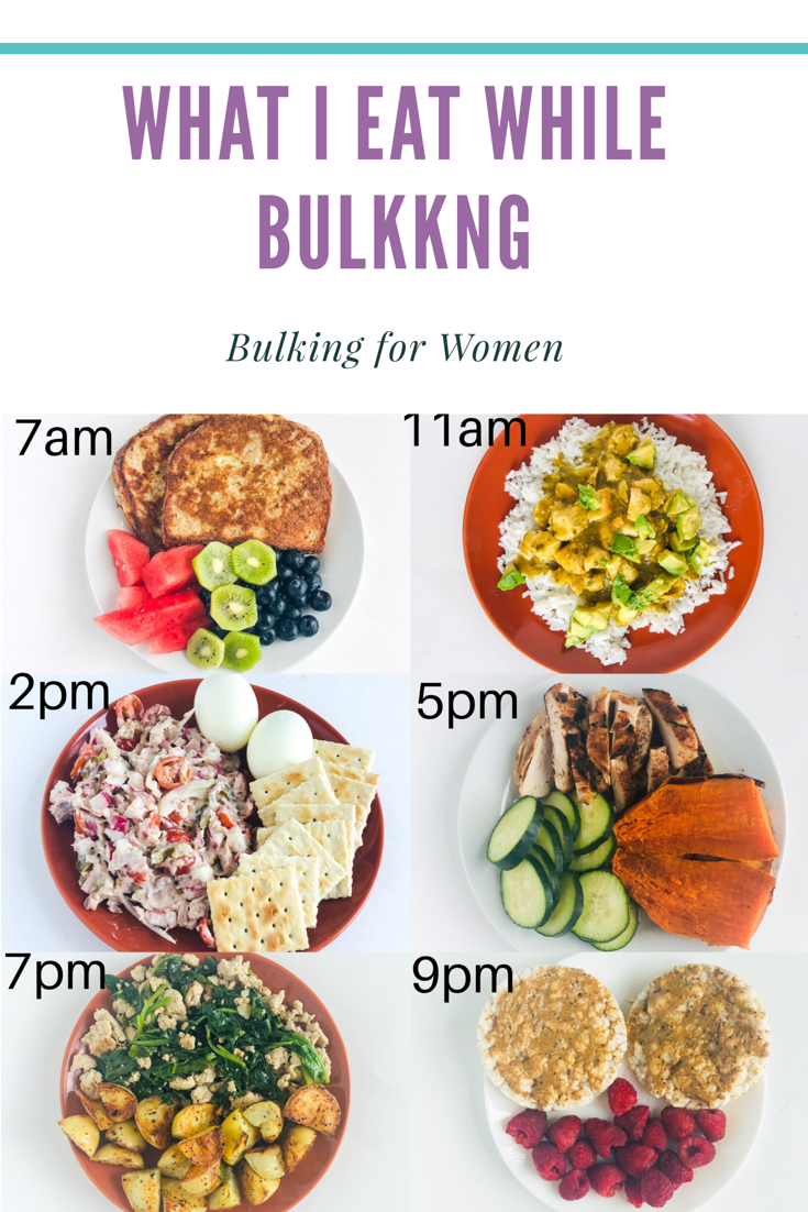 Here is an example of my bulking meal plan.