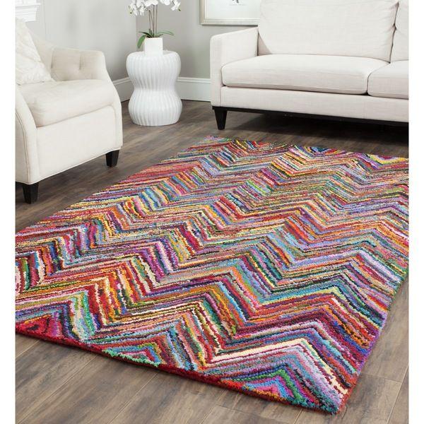 safavieh handmade nantucket pink cotton rug 6u0027 x