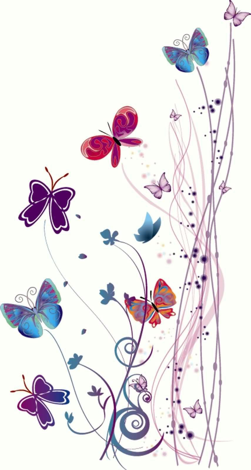 Imagenes de mariposas vectorizadas buscar con google for Mural de flores y mariposas