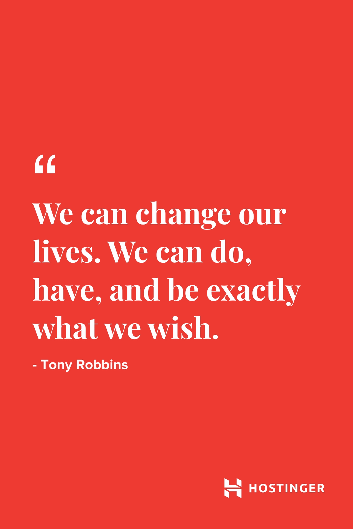 Quotes | Hostinger | Inspirational | Tony Robbins