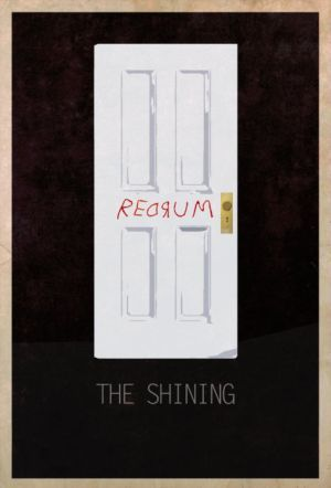 ドアに赤い文字 The Shining Horror Movie Art Film Posters Art