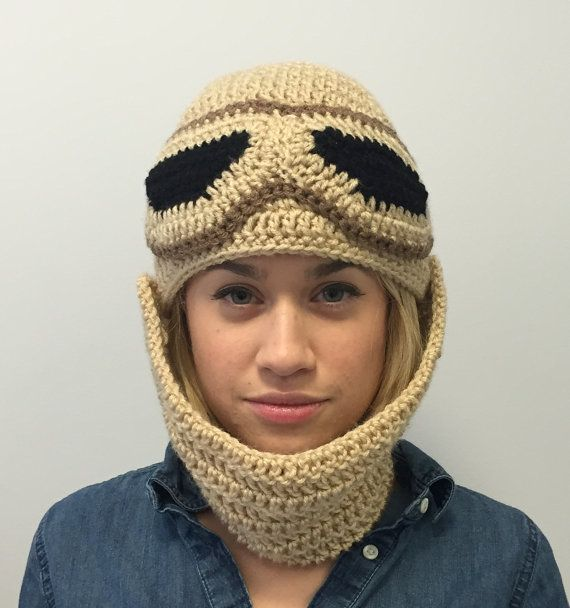 Rey Hat Star Wars Crochet Beanie With Detachable Adjustable Scarf Rey Costume Halloween Costume Tricô E Crochê Touca De Croche Trico