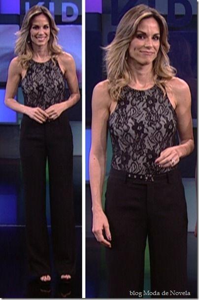 Looks da Ana Furtado no Vídeo Show em agosto