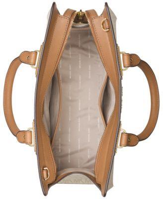 0f743942f544 Michael Michael Kors Quinn Large Satchel - Tan/Beige | Products in ...