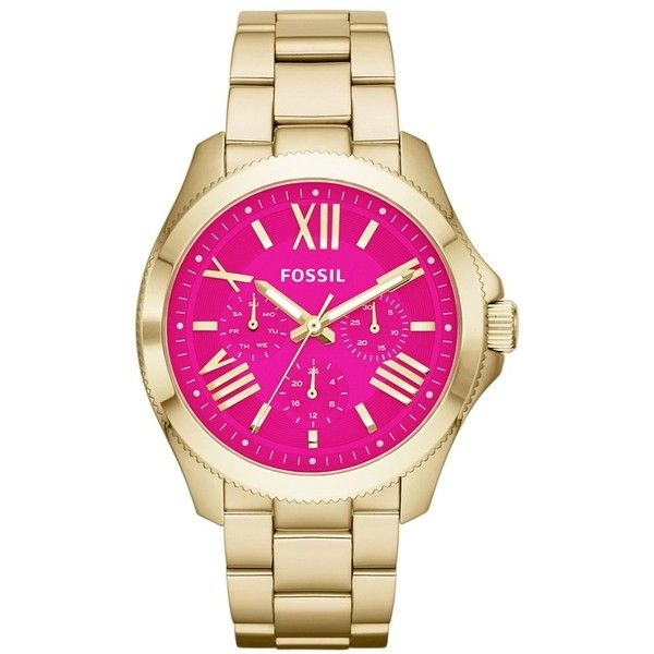 Fossil 'Cecile' Multifunction Bracelet Watch, 40mm found on Polyvore