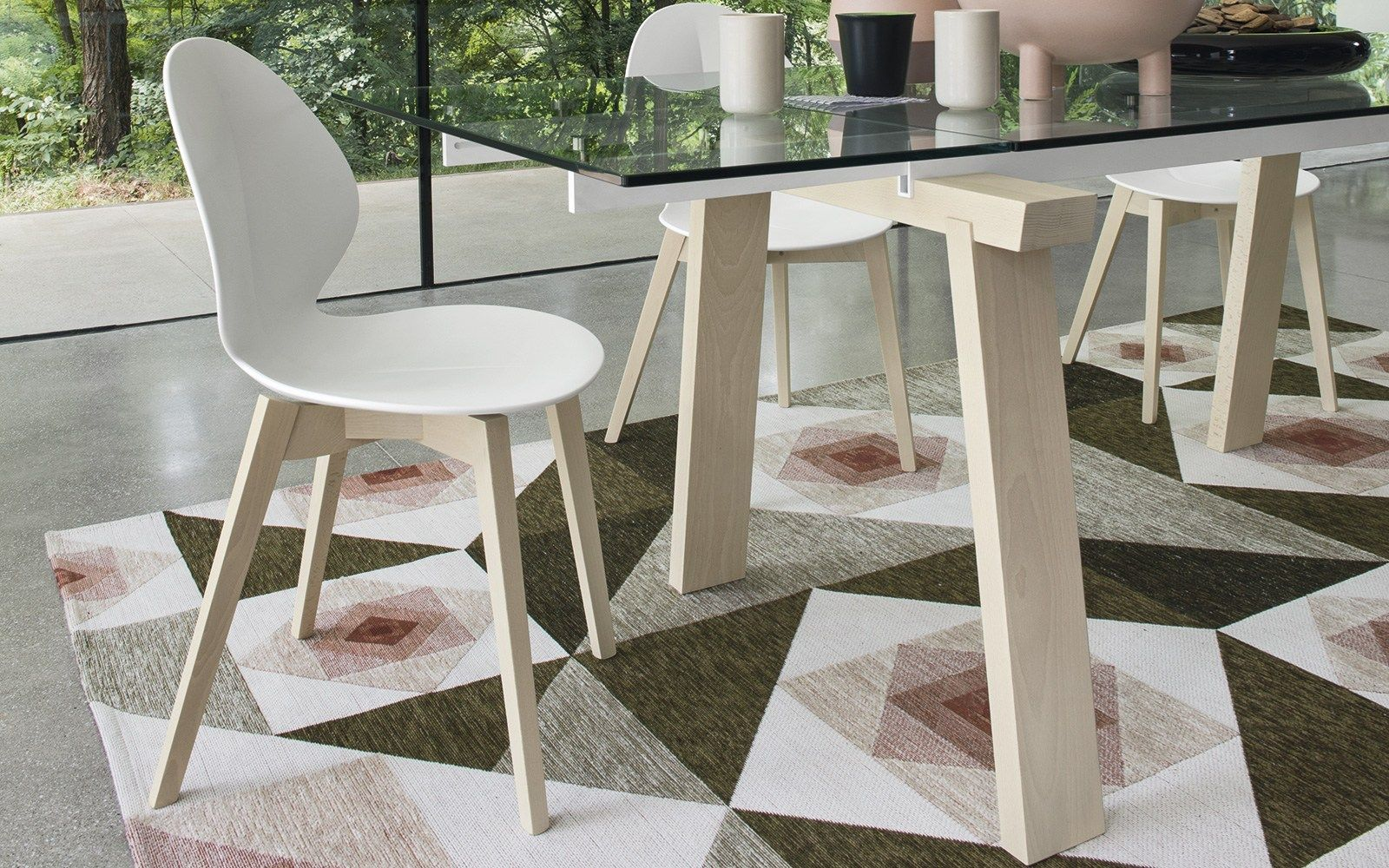 Basil Polypropylene Chair By Calligaris Design Mrsmith Studio Wooden Dining Chairs Calligaris Glass Dining Table
