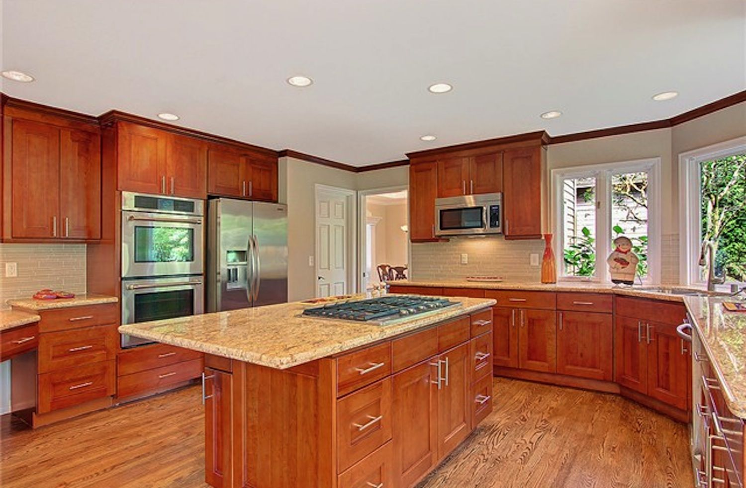 American Cherry Double Shaker Cherry Cabinets Kitchen Kitchen