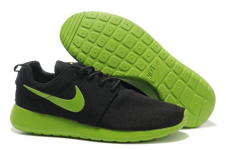 new styles 39408 70735 Heren Nike Roshe Run Mesh Antraciet Limoen Groen Sportschoenen,POPULAR  COLOR! UK Trainers Roshe One|Nike Roshe Run Suede Mens Black Green Nike  Shoes Online,