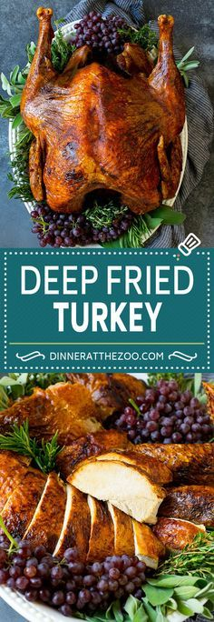 Deep Fried Turkey Recipe | Thanksgiving Turkey Painting Moving Decor and Organization