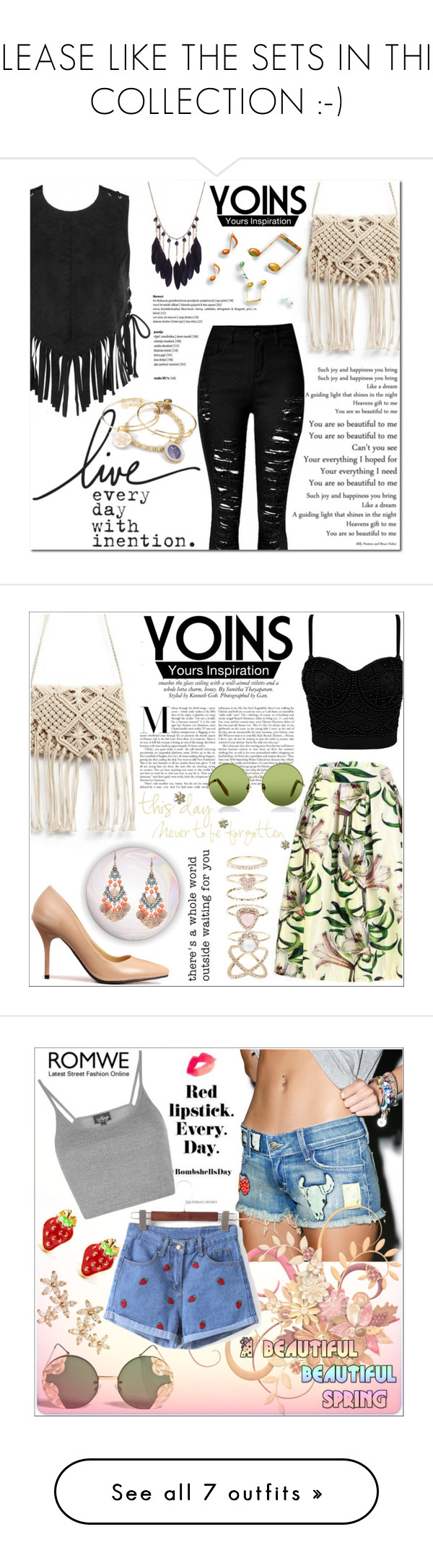 """""""PLEASE LIKE THE SETS IN THIS COLLECTION :-)"""" by selmagorath ❤ liked on Polyvore featuring Alex and Ani, yoins, loveyoins, packforcoachella, Victoria, Victoria Beckham, Accessorize, Bonheur, Siwy, Spitfire and Topshop"""