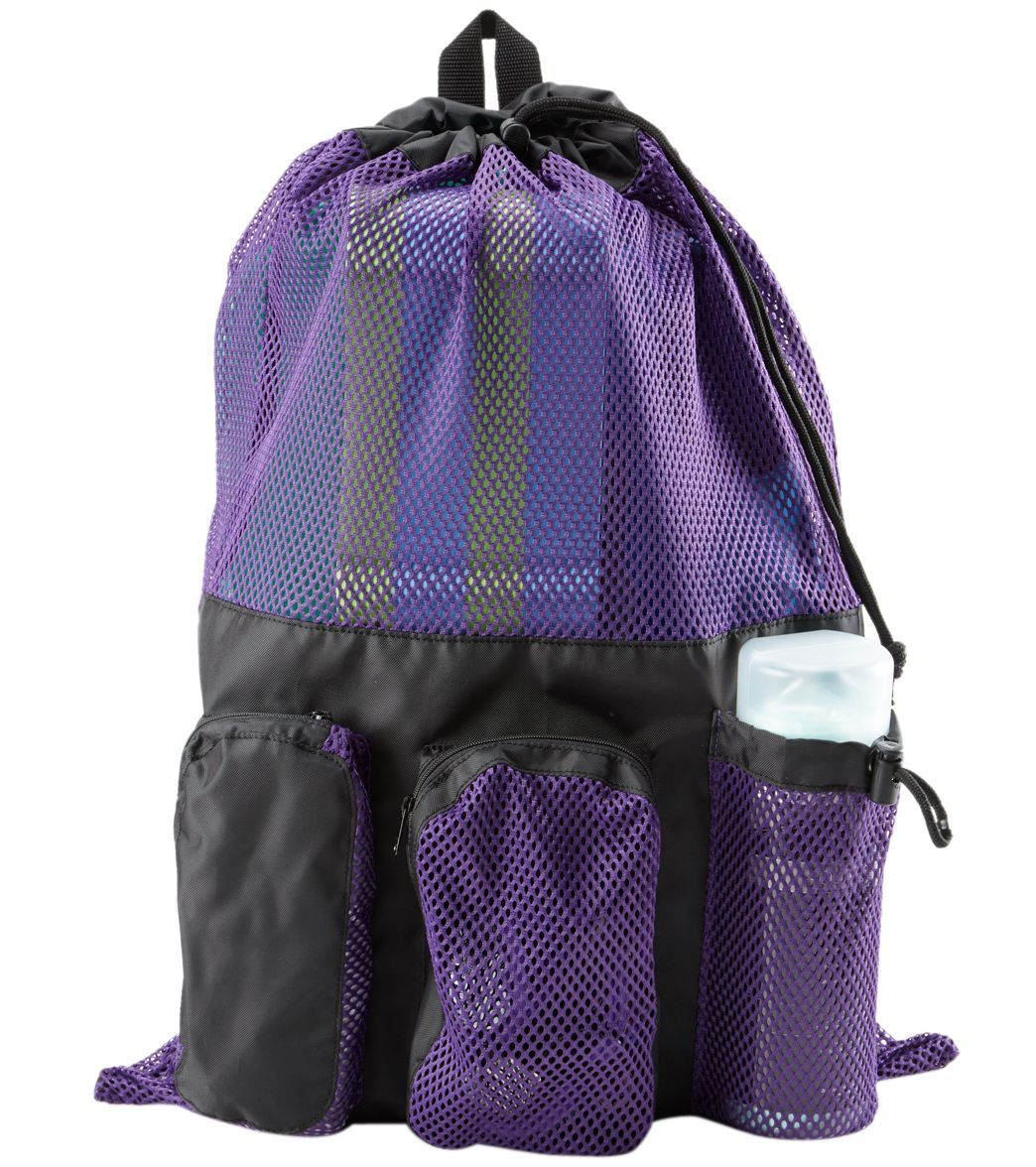 f084c2f16b The Sporti Equipment Color Block Mesh Bag is the perfect travel companion  for storing everything from