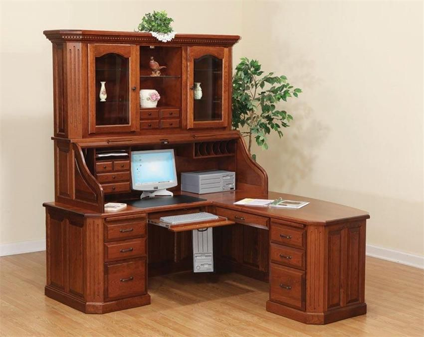 1000 images about home office on pinterest corner desk with hutch home office and organized office amish corner computer desk hutch