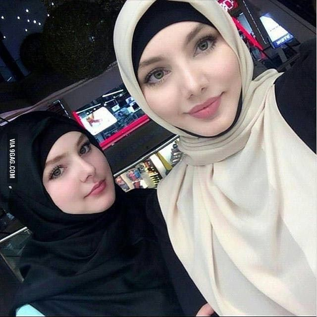 2 Muslim girls from chechnya | Girl hijab, Beautiful muslim women