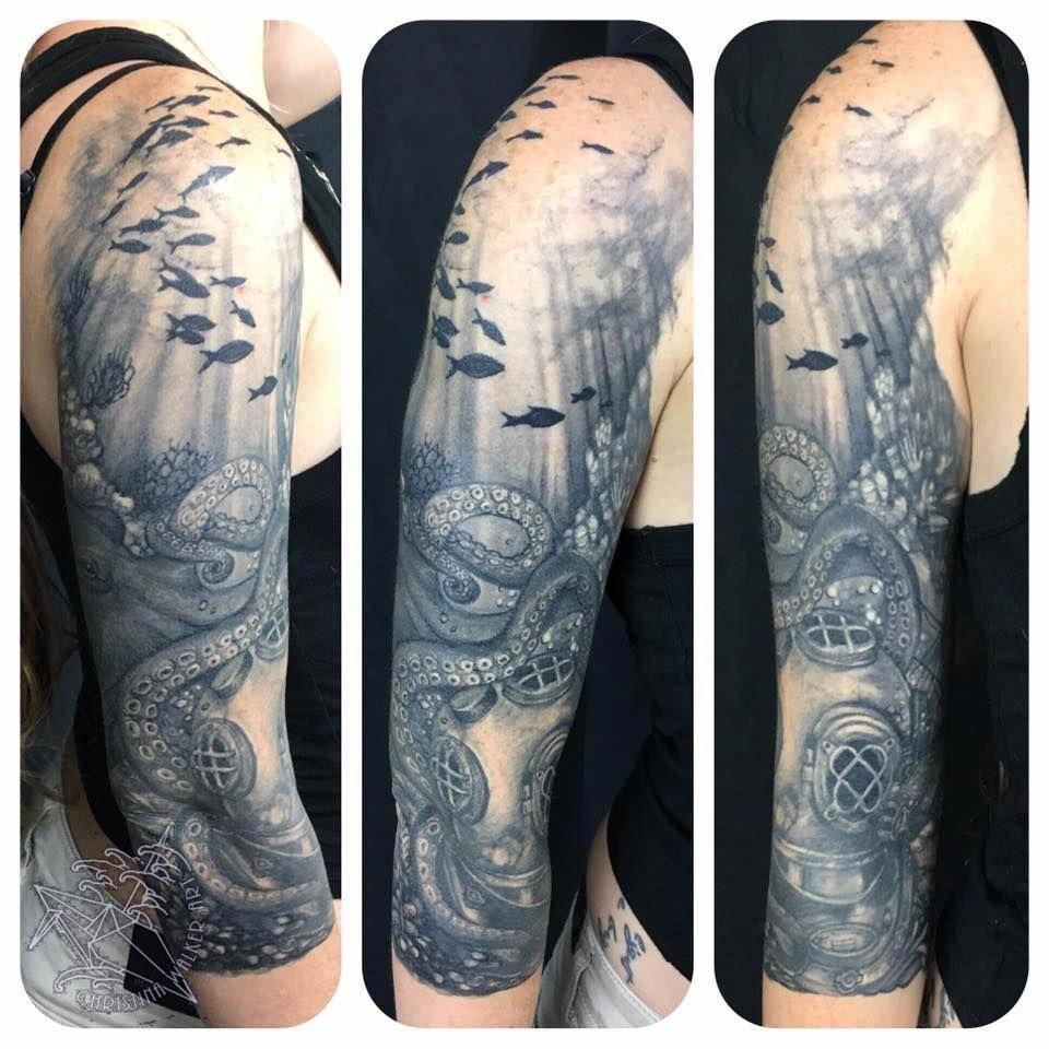 Half Sleeve Tattoos Gallery Halfsleevetattoos In 2020 Leg Sleeve Tattoo Sleeve Tattoos Ocean Sleeve Tattoos