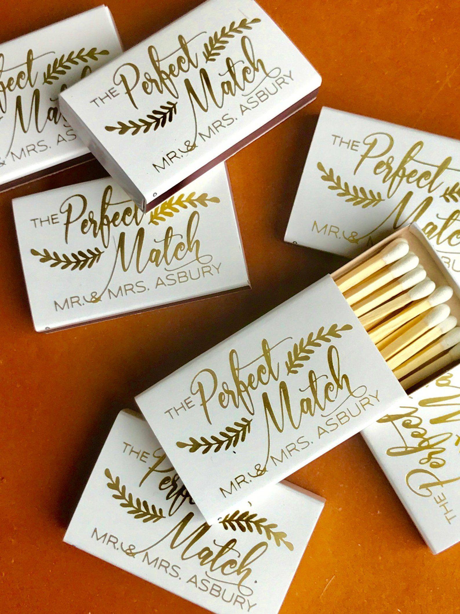 Wedding Matchboxes, Wedding Matches, Monogrammed