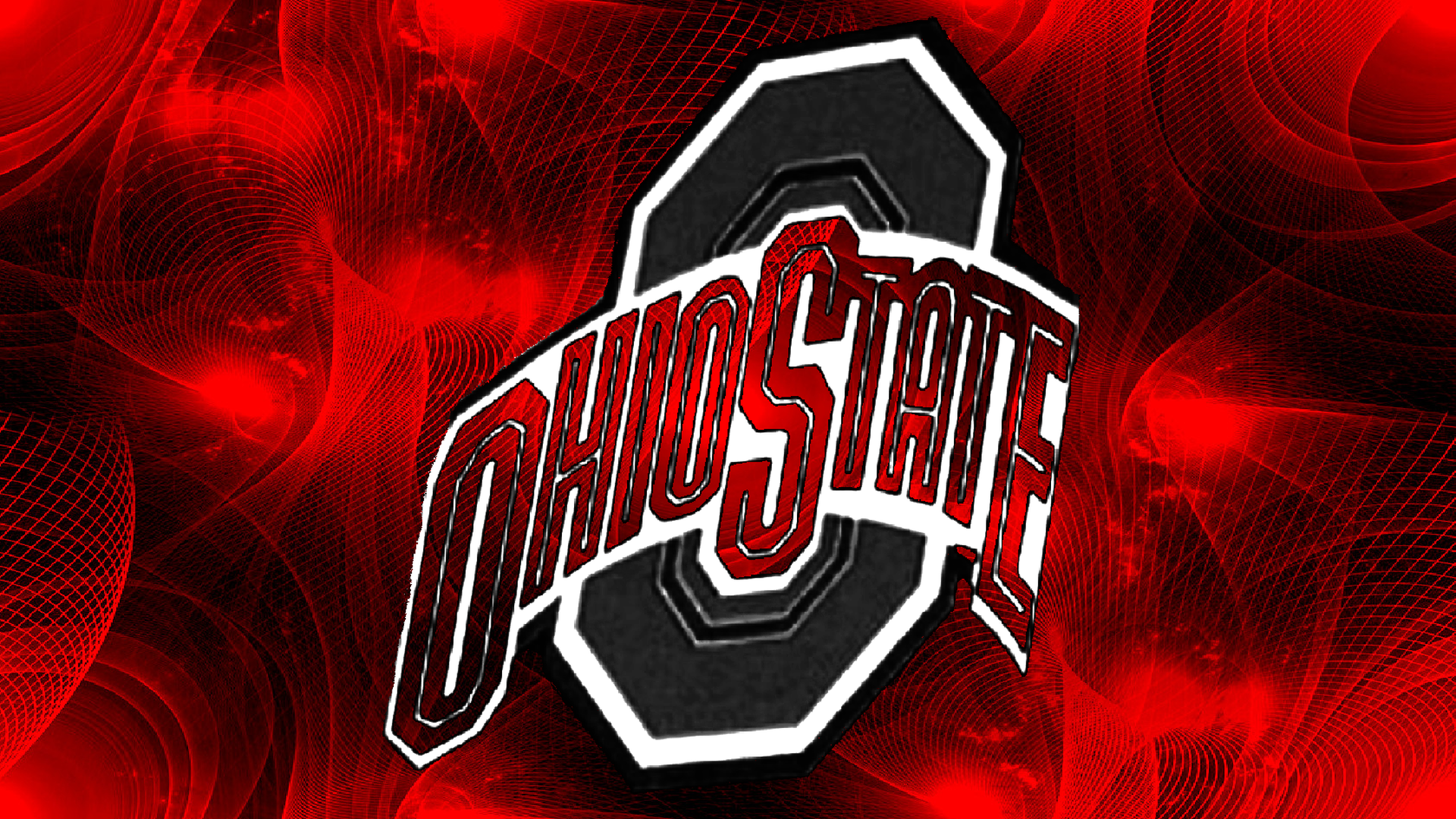 Gray Block O Ohio State On A Fractal Background By Bucks7t2 Buckeye Nation Ohio State Ohio State Wallpaper