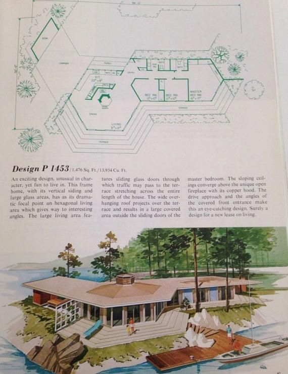 223 Vacation Homes Plans Mid Century Modern House Richard Pollman Design