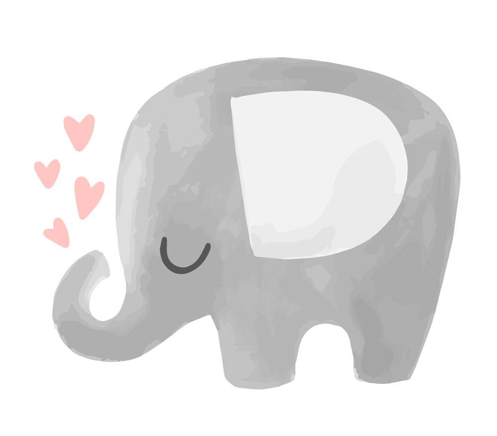 Cute Vector Elephant Illustration Hearts Baby In 2020 Cute Elephant Drawing Elephant Illustration Elephant Drawing Similar with baby elephant clipart png. pinterest