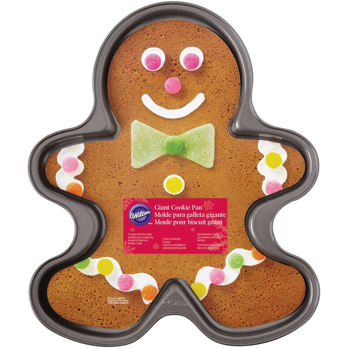 Wilton NonStick Giant Gingerbread Man Cookie Pan